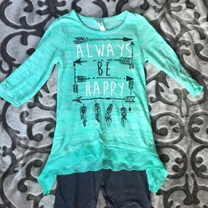 Handkerchief top and old navy leggings size 10
